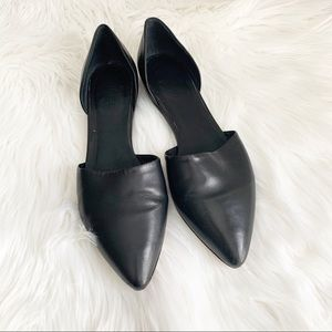 Vince Nina D'Orsay Black Leather Flats